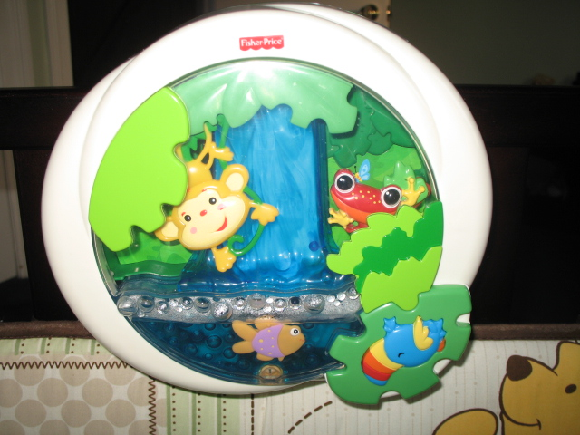 Fisher Price Crib Toys : Fisher price rainforest waterfall peek a boo soother