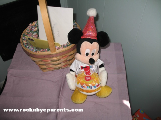 Birthday Mickey with One Candle