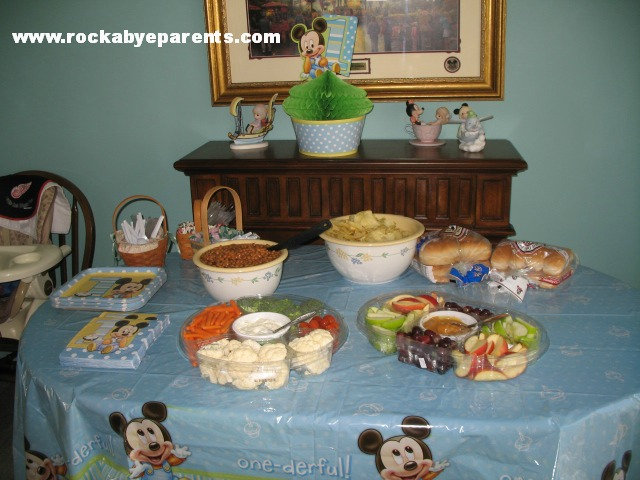 Mickey Mouse Birthday Meal