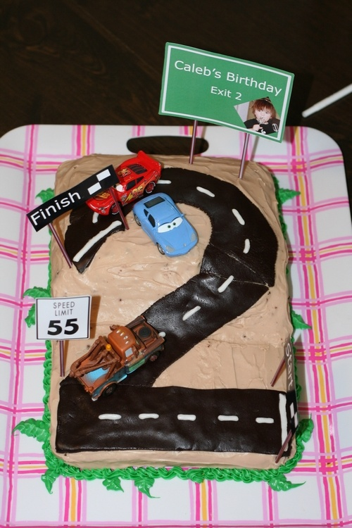 Cars Birthday Cake Design