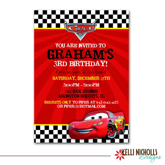 Party Invitations Cars  Free Printables