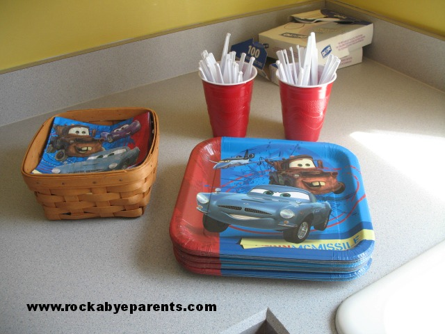 Cars Theme Paper Products