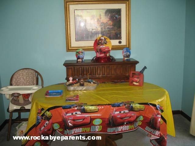 Cars Theme Table Cloth