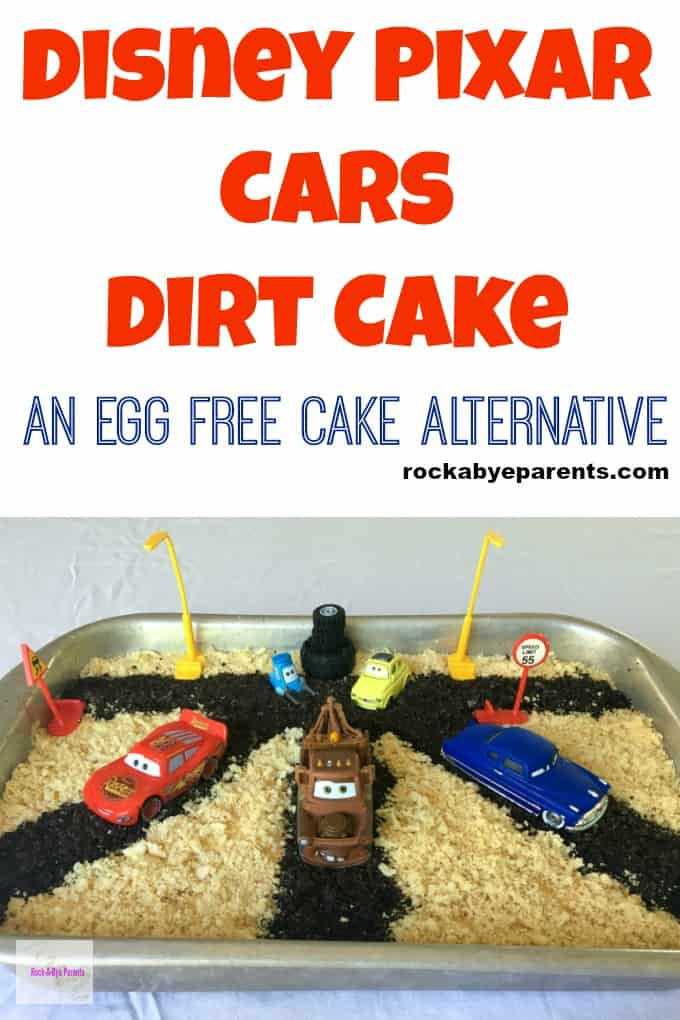 Disney Pixar Cars Dirt Cake - An Egg Free Cake Alternative