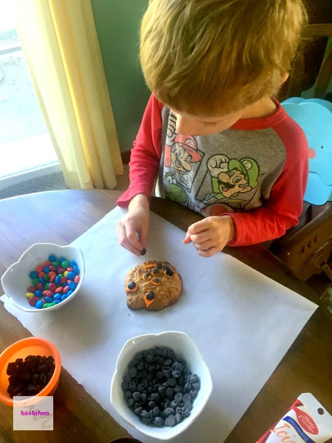 Kids Love to Help Decorate their own Pumpkin Cookies