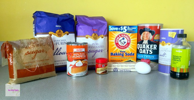 Pumpkin Oatmeal Cookies Baking Supplies