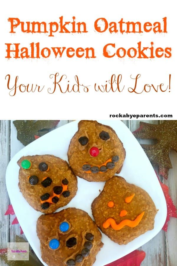 Pumpkin Oatmeal Halloween Cookies