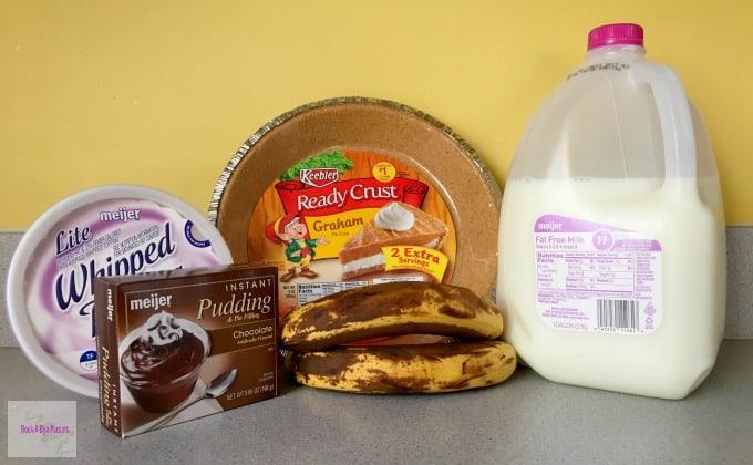 Egg Free Chocolate Banana Pudding Pie