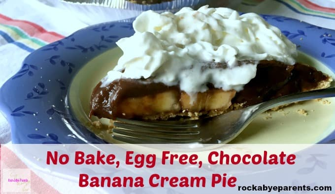Chocolate Banana Cream Pie without Eggs