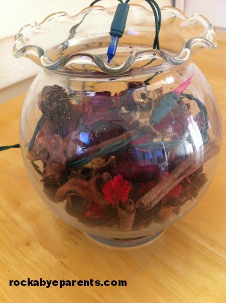 Filling Potpourri Jar