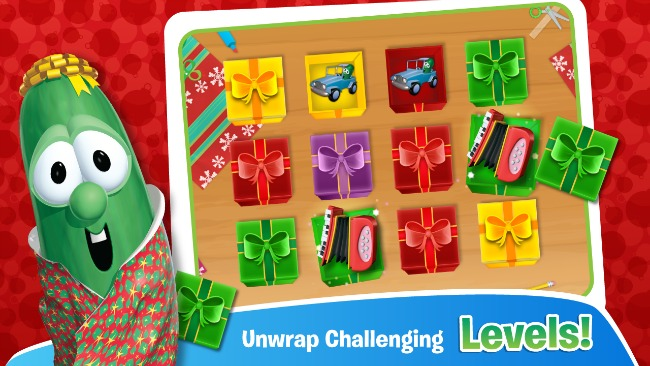 VeggieTales: It's A Very Merry Larry Christmas App Review & DVD Giveaway