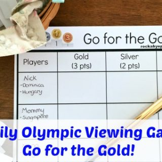 Family Olympic Viewing Game – Go For The Gold!