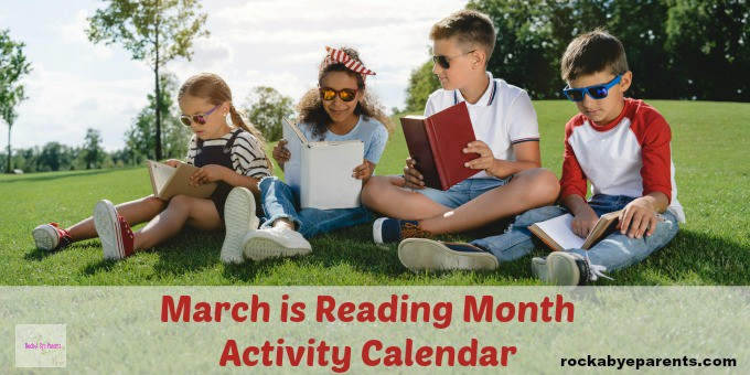Calendar Days for March is Reading Month