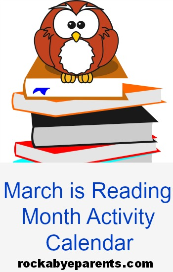 March is Reading Month Activity Calendar