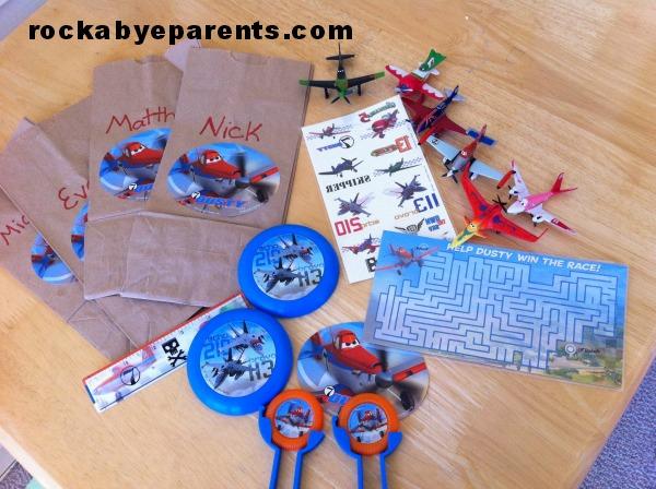 Disney's Planes Goody Bag Items