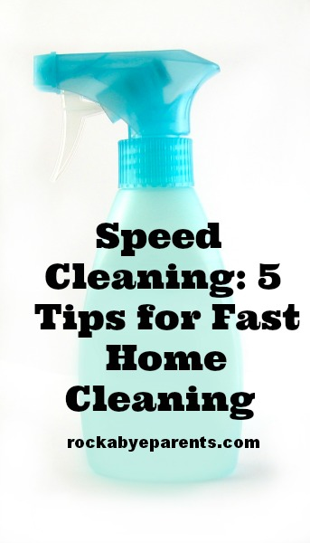 Speed Cleaning: 5 Tips For Fast Home Cleaning