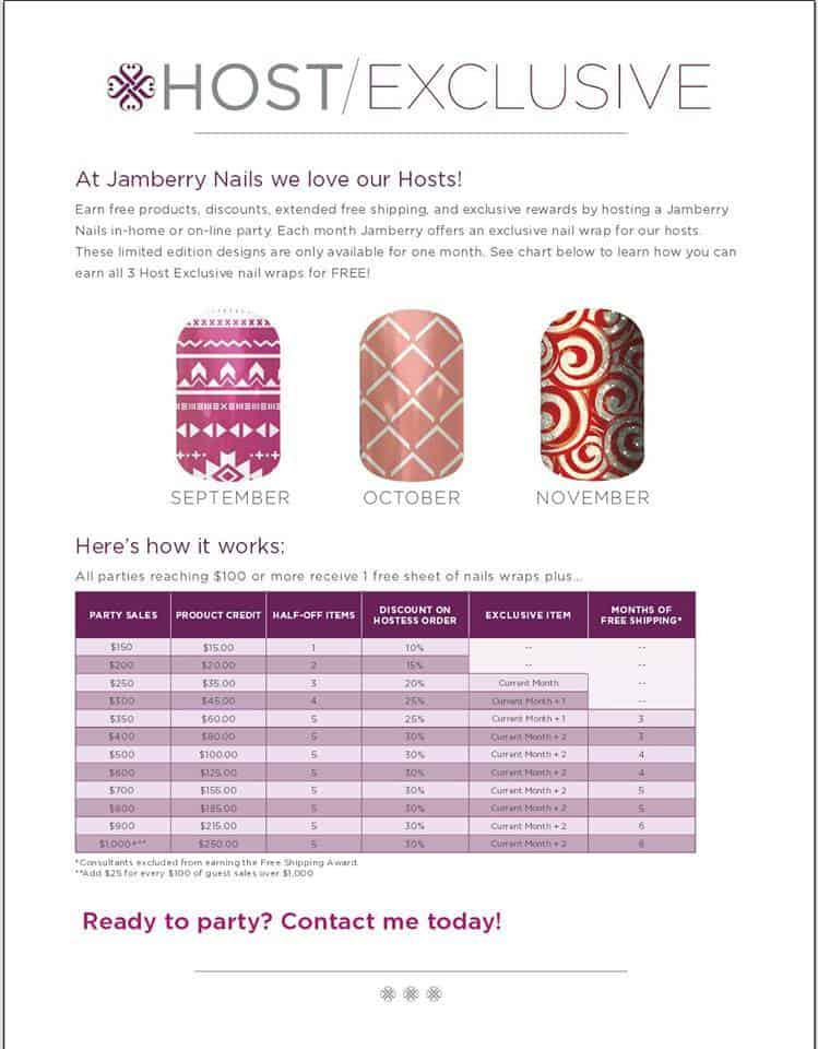 Jamberry Nails Hostess Rewards