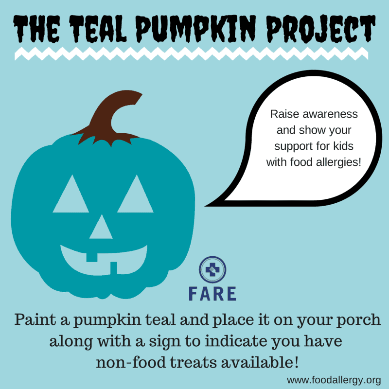 Be A Food Allergy Safe House This Halloween #TealPumpkinProject - rockabyeparents.com