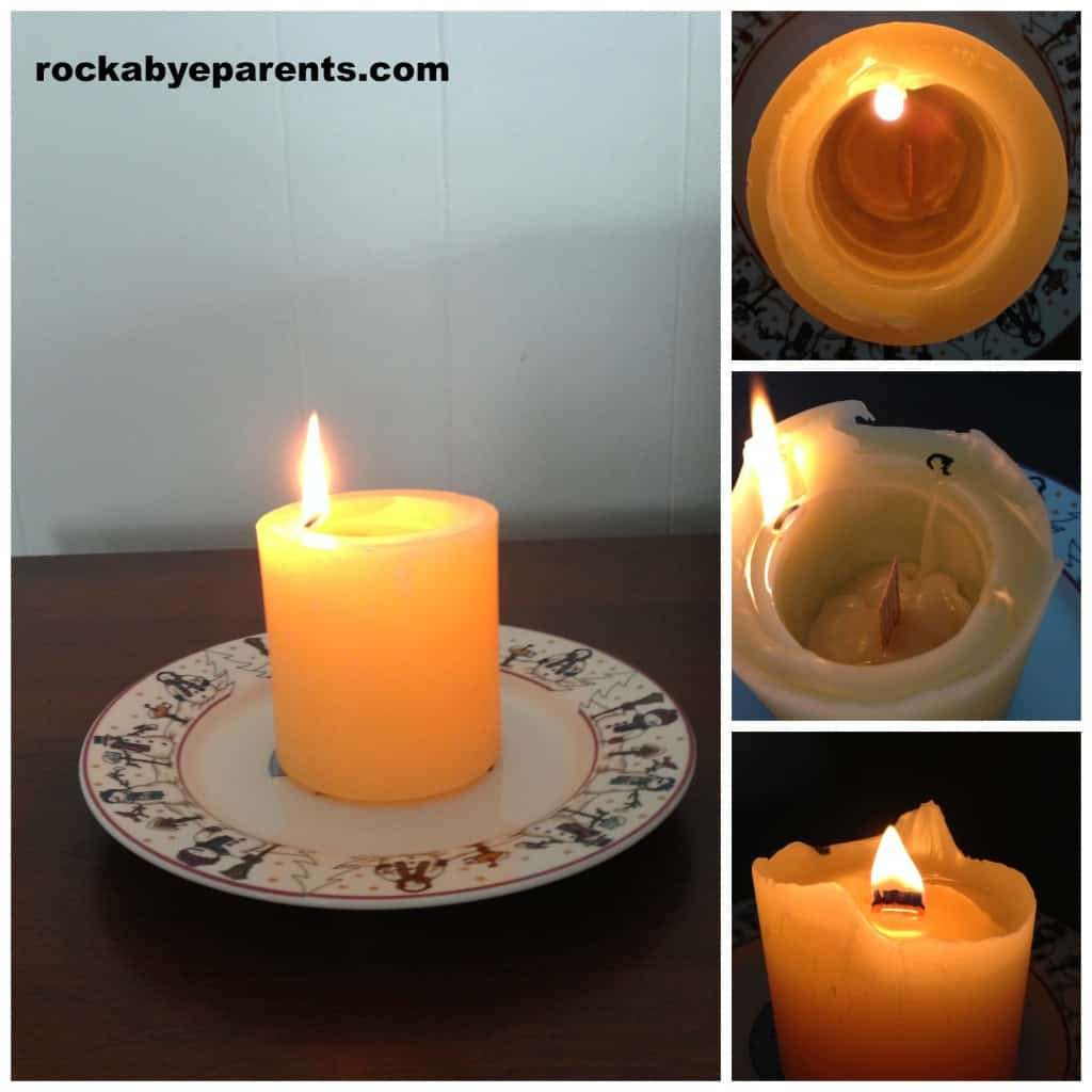 Stages of Spiral Light Candle