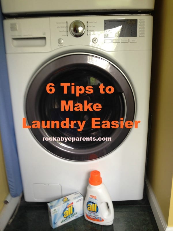 6 Tips To Make Laundry Easier