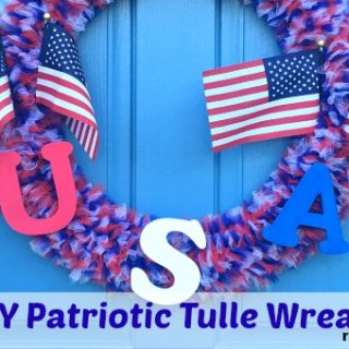 DIY Patriotic Tulle Wreath