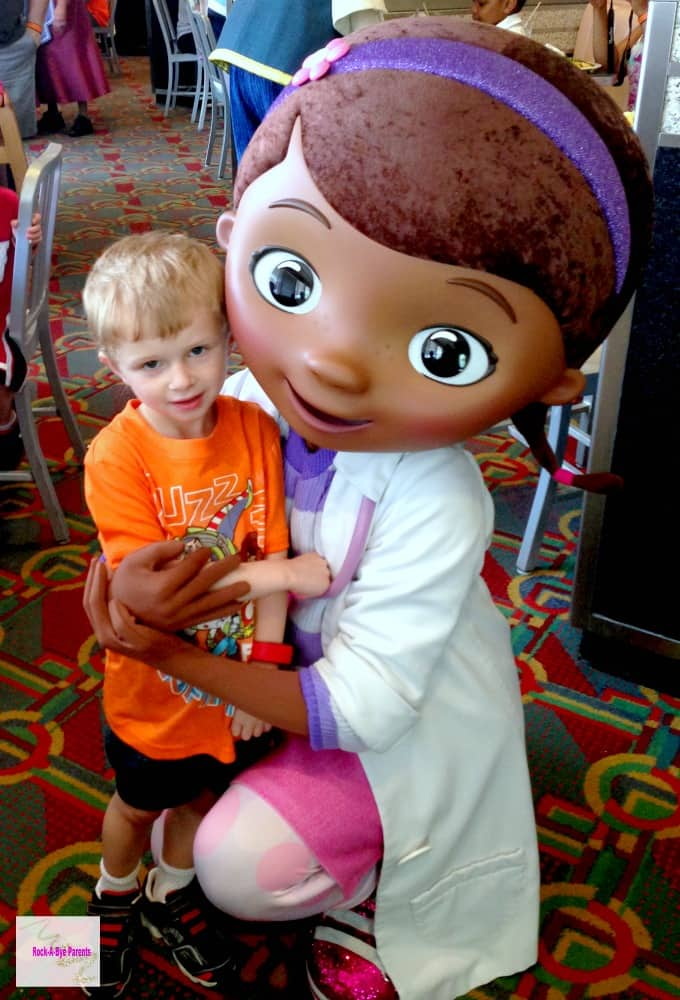 Doc McStuffins at Disney Junior Character Breakfast