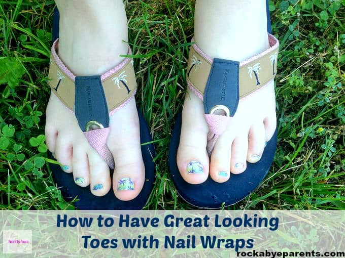 Jamberry Toe Nail Wraps Application