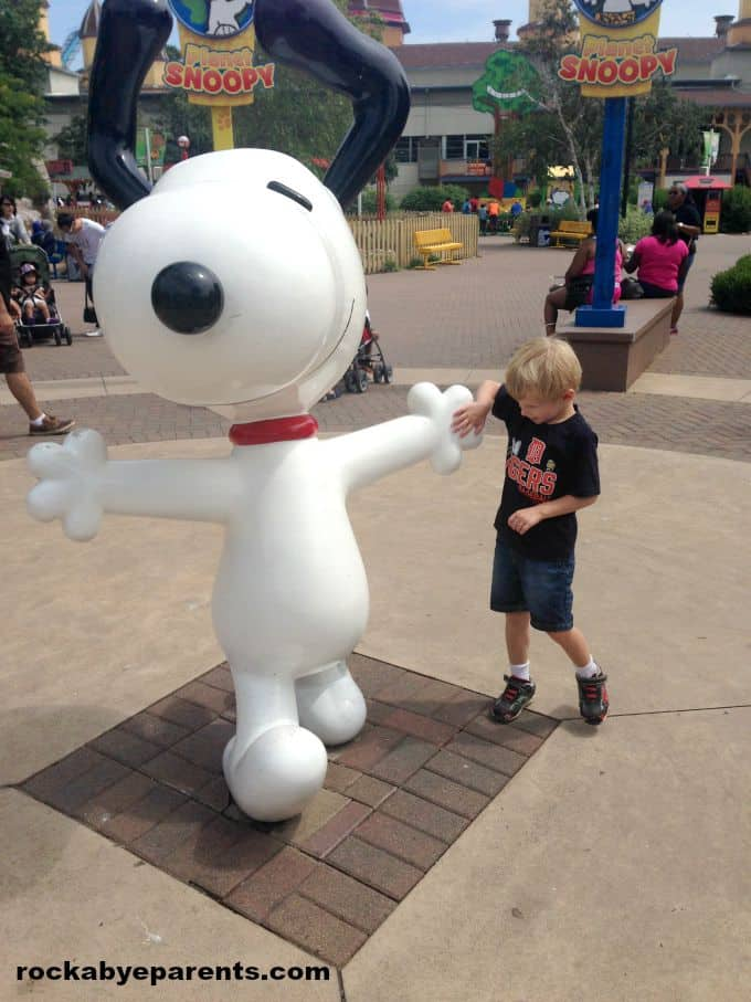 Hanging out with Snoopy