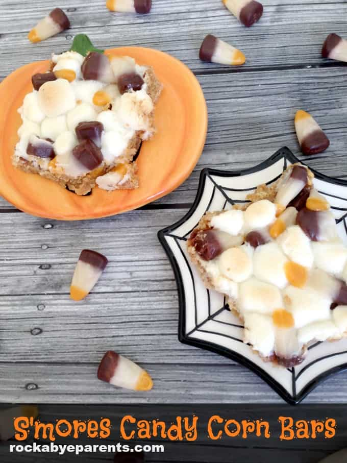S'mores Candy Corn Bars - rockabyeparents.com