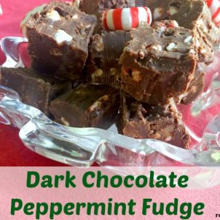 Dark Chocolate Peppermint Fudge – An Easy Christmas Fudge Recipe