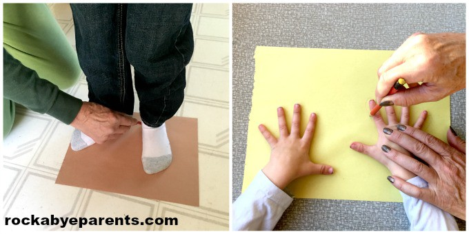 Handprint and Footprint Turkey: with Poem Printable - rockabyeparents.com