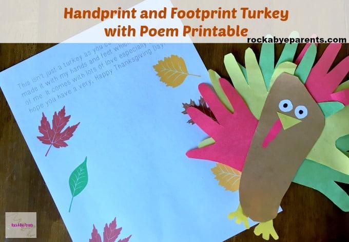 Handprint Turkey Kid Craft