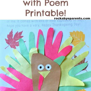 Handprint And Footprint Turkey With Poem Printable