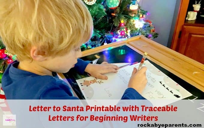 Dear Santa Free Christmas Printable