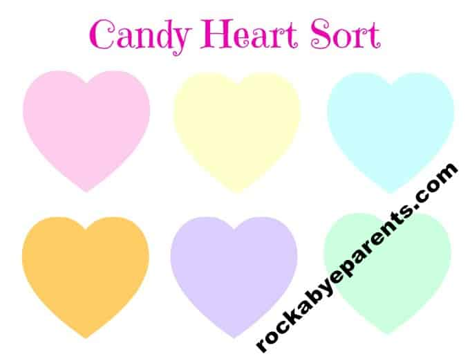 Candy Heart Sort Printable