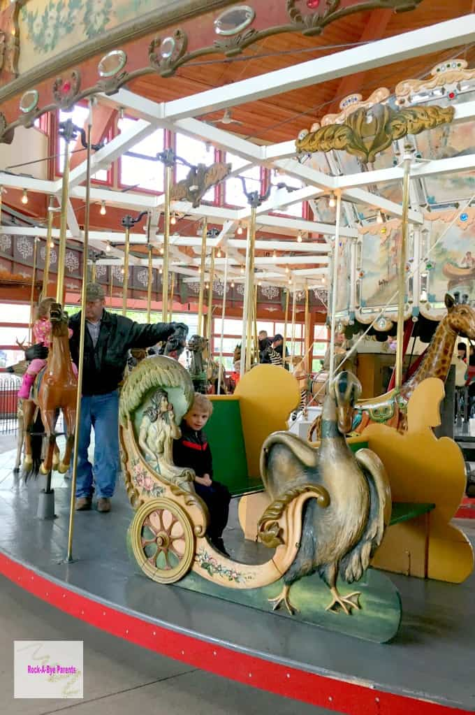 Riding the Carousel at Greenfield Village