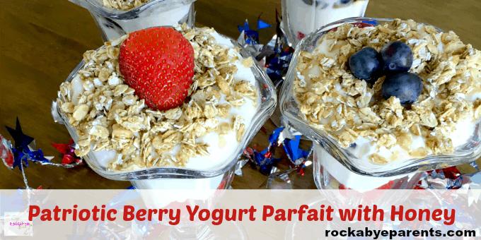 Yogurt and Berry Parfait with Honey