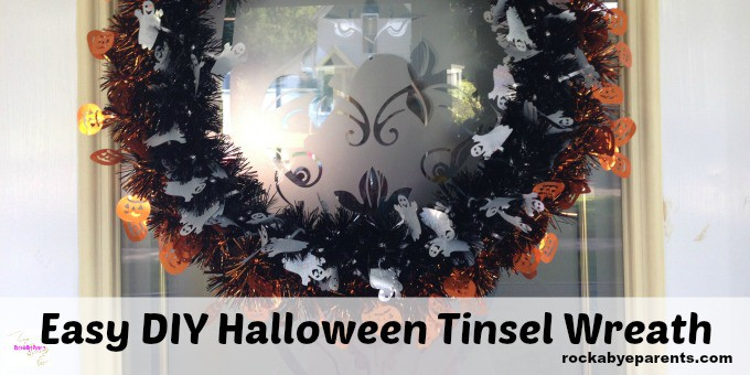 How to Make a Halloween Wreath with Tinsel