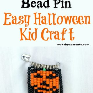 Jack-O'-Lantern Bead Pin – Halloween Kid Craft