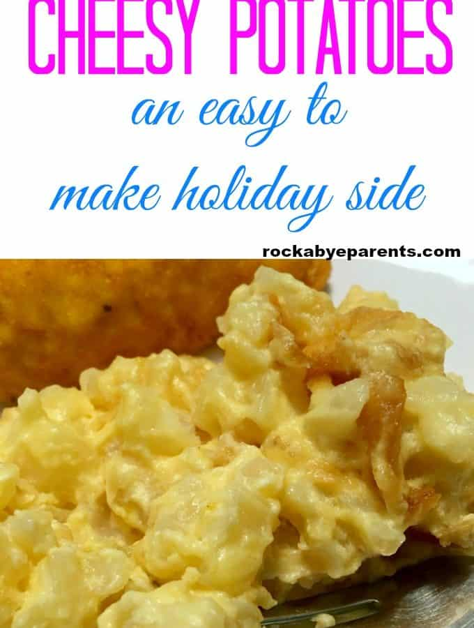 Slow Cooker Cheesy Potatoes - An Easy Holiday Side