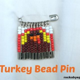 Thanksgiving Turkey Bead Pin Design