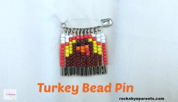 Thanksgiving Turkey Bead Pin Design