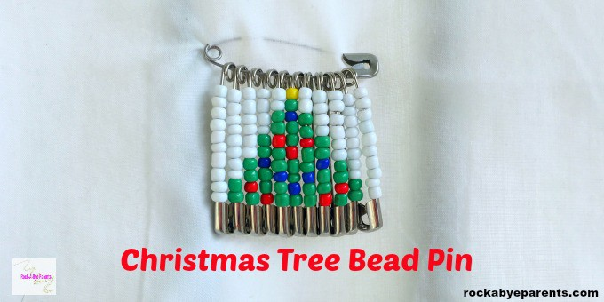 Christmas Tree Bead Pin Design