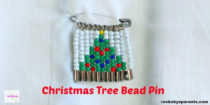 Christmas Tree Bead Pin Design