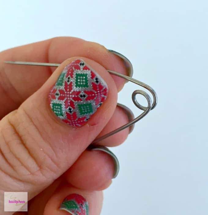 Opened Coil for Christmas Tree Safety Pin Craft