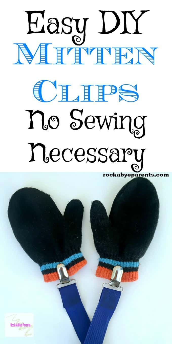Easy DIY Mitten Clips - No Sewing Necessary