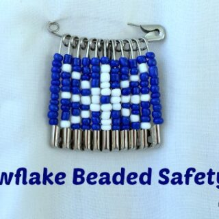 Snowflake Safety Pin Design