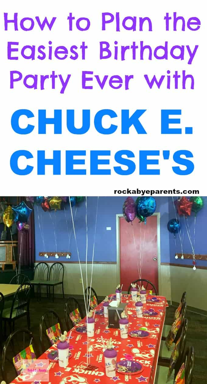 How to Plan the Easiest Birthday Party Ever with Chuck E. Cheese's