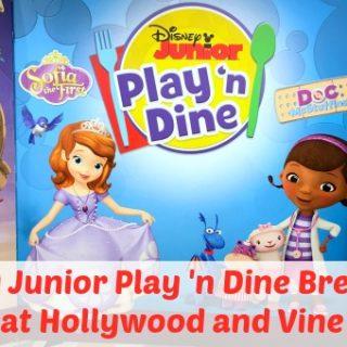 Hollywood and Vine Disney Junior Breakfast Buffet