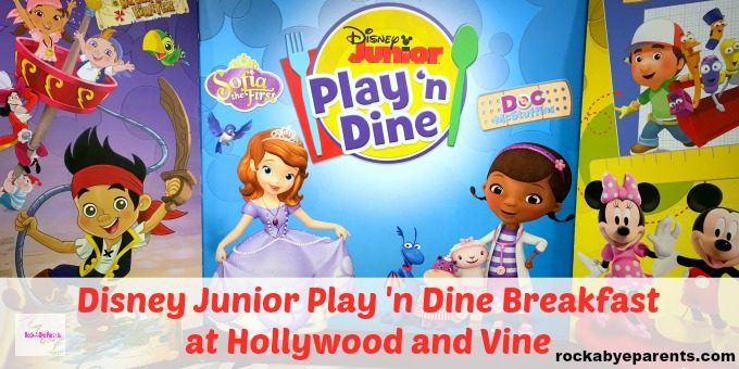 Hollywood and Vine Disney Junior Breakfast Buffet
